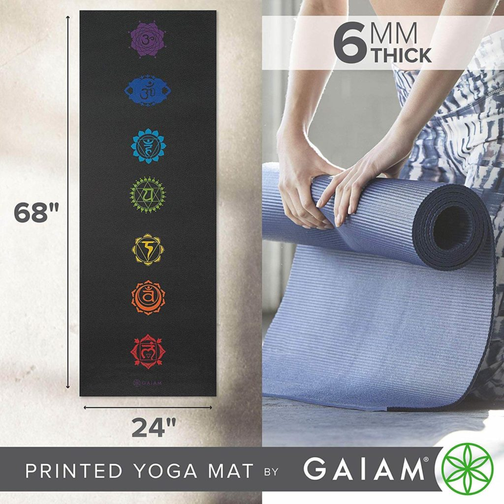 6mm Print Extra Thick Non Slip Exercise & Fitness Mat for All Types of Yoga mat (1)