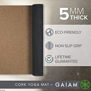 Eco-Friendly 5mm Gaiam Cork yoga Mat