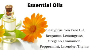 Mix essential oil with warm water and witch hazel for making DIY yoga mat cleanerMix essential oil with warm water and witch hazel for making DIY yoga mat cleaner