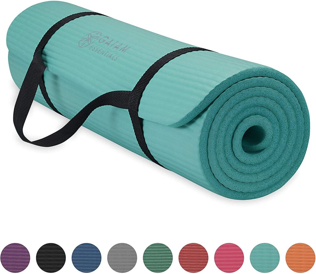 Most Thick: Gaiam Essentials Thick Yoga Mat